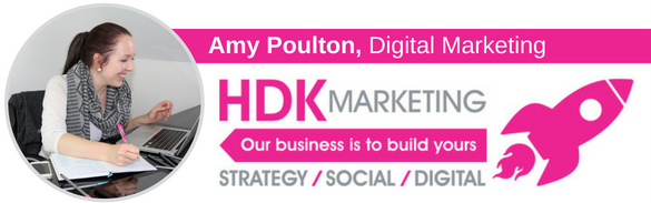 Amy Poulton - Digital Marketing Manager - HDK Marketing - Sutton Coldfield - Email Signature