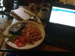 Eating Mexican Food and Working Remotely Online