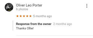 Google Review on the HDK Marketing Business Listing