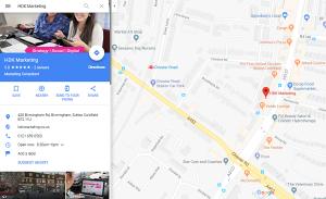 HDK Marketing - Birmingham Road Sutton Coldfield - Google Business Listing