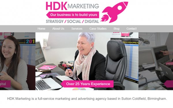 HDK Marketing Website Home Page Screenshot