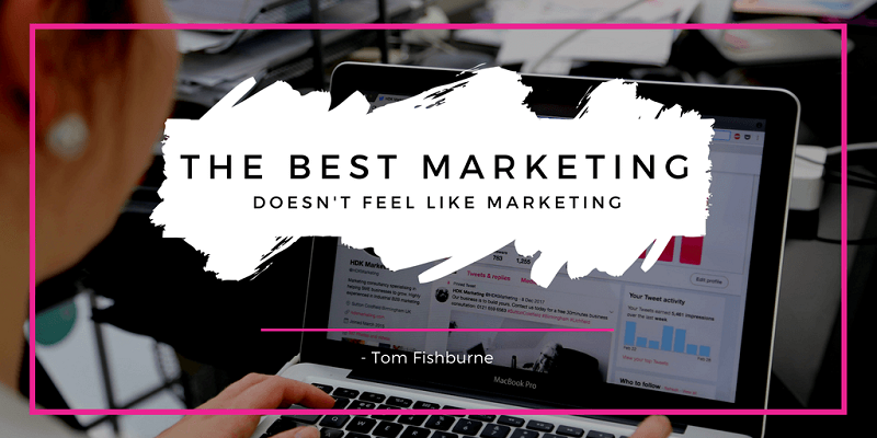 Quote about the Best Marketing